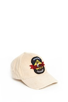 DSQUARED2 Ribbed velvet cap with 'Deer' patch
