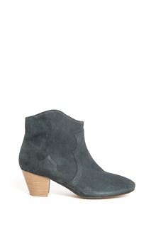ISABEL MARANT 'Dicker' velvet booties