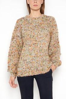 CHLOÉ Mohair crewneck oversized sweater in multicolor
