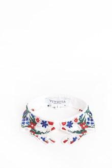 VIVETTA 'Brunei' macramè collar with 'Hands' embroidery