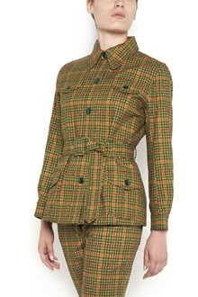 PRADA LINEA ROSSA Pied de Poule printed buttoned jacket