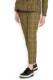 PRADA LINEA ROSSA pied de poule printed trousers