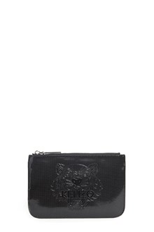 KENZO Cotton clutch with zipper