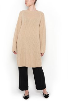 MAX MARA wool 'Cicala'  rib stitched crew neck sweater