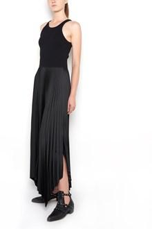 THEORY Long sleeveless dress with pleated skirt