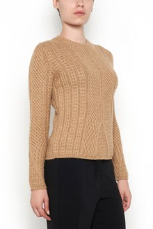 MAX MARA wool 'Ronco' braided crew neck sweater
