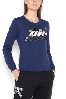KENZO Crew-neck embroidered sweatshirt with logo