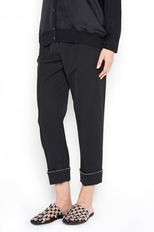 ALEXANDER WANG High waist  track trousers with chain on  lapel