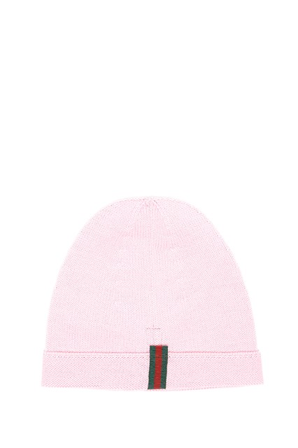 GUCCI wool beanie with sequinned 'Loved' patch
