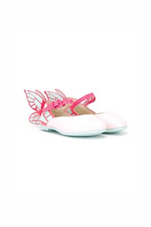SOPHIA WEBSTER 'Chiara mini' flat shoes with glitter and fuchsia butterfly