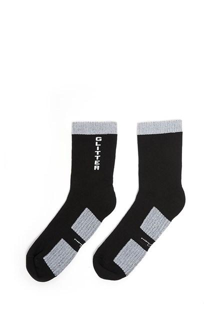 RICK OWENS cotton glitter socks