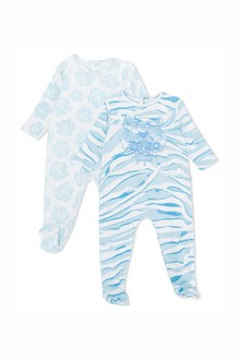 KENZO KIDS Baby set with two cotton baby suit with logo print