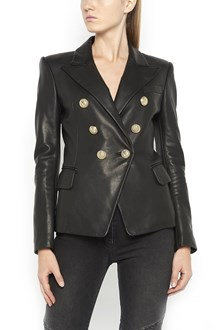 BALMAIN six buttons tailleur leather jacket