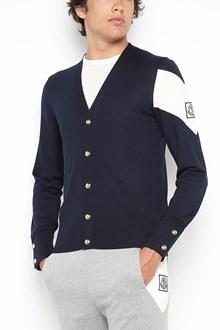 MONCLER GAMME BLEU knitwear tricot cardigan with logo