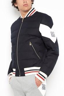 MONCLER GAMME BLEU padded bomber jacket with zip and logo