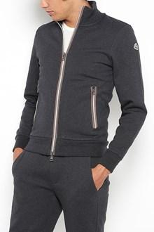 MONCLER tricolour zipped sweatshirt