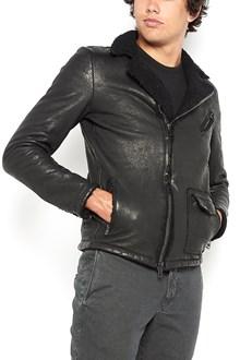 SALVATORE SANTORO lamb leather zipped jacket