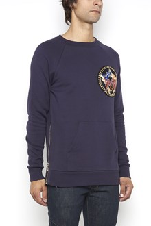BALMAIN Cotton crew-neck sweatshirt patch collection