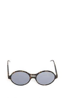 THOM BROWNE 'Tokyo' animalier printed sunglasses with grey silver flash mirror lens