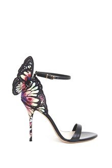 SOPHIA WEBSTER Calf leather embroidery sandal with butterfly on back
