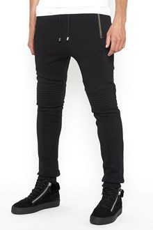 BALMAIN cotton tracksuit pants with zip on ankle