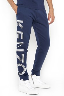 KENZO cotton tracksuit pants with lateral logo print