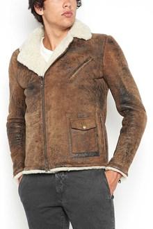 SALVATORE SANTORO lamb leather jacket with fur inside