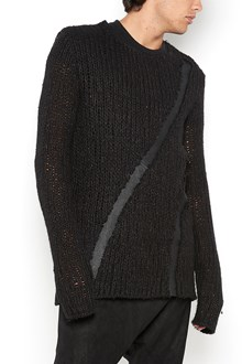 10SEI0OTTO wool jumper with leather details