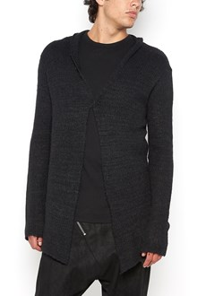 10SEI0OTTO wool knitted cardigan with leather details