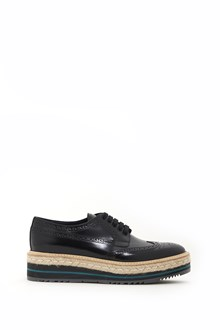 PRADA calf leather lace-up shoes with platform