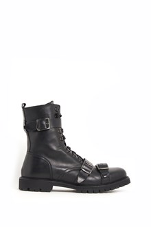 CHRISTIAN PELLIZZARI leather ankle boots with laces and buckles