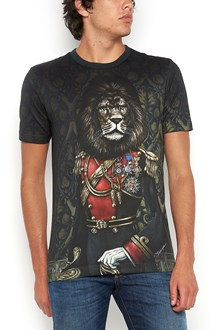 """DOLCE & GABBANA printed all over """"lion"""" t-shirt"""
