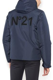 N°21 nylon padded jacket with zip and logo