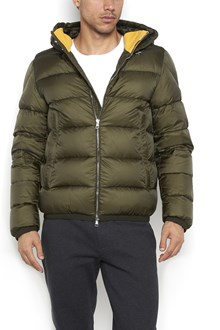 MONCLER 'Clamart' hooded zipped jacket with collar insert