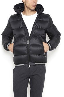 MONCLER 'Jeanbart' hooded zipped down jacket with striped elastic band