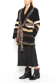 ALANUI Oversized jaquard cashmere fringed cardigan