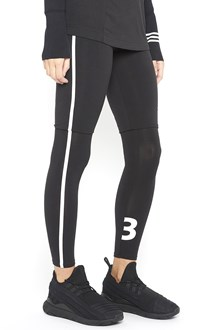 Y-3 jersey logo leggings with withe bands