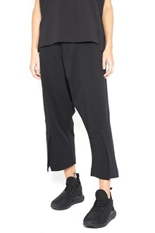Y-3 cotton trousers with zip in front and elastic band back