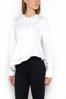 CARVEN Cotton shirt with buttons and asymmetrical valance