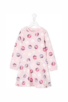 KENZO KIDS cotton dress with flower print all over