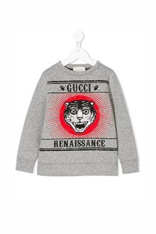 GUCCI cotton sweatshirt with print in front
