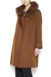 MAX MARA STUDIO wool coat with fur collar