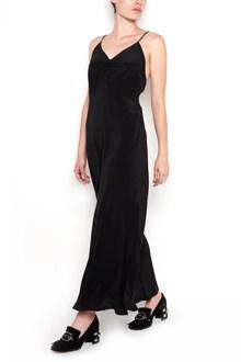 MIU MIU Long dress with neckline on the back