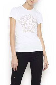 VERSACE cotton t-shirt with logo in front