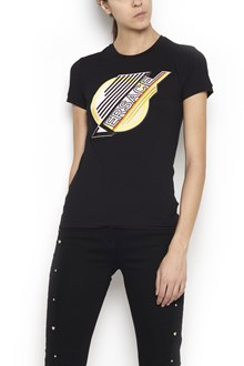 VERSACE cotton t-shirt with maxi strass patch