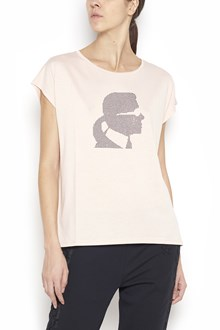 KARL LAGERFELD cotton t-shirt with swarowski karl in front
