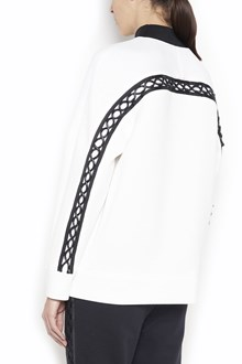 KARL LAGERFELD zipped sweatshirt with patches