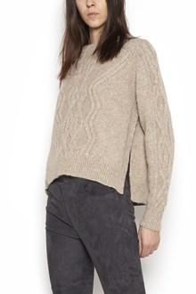 "ISABEL MARANT ""elena"" wool crew neck interlace sweater"