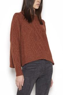 """ISABEL MARANT """"elena"""" wool round neck interlace sweater"""