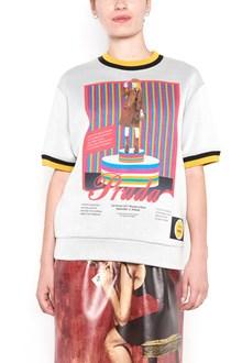 PRADA cotton sweatshirt with print in front